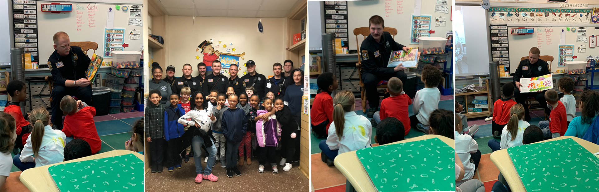 Fire Department reading to students